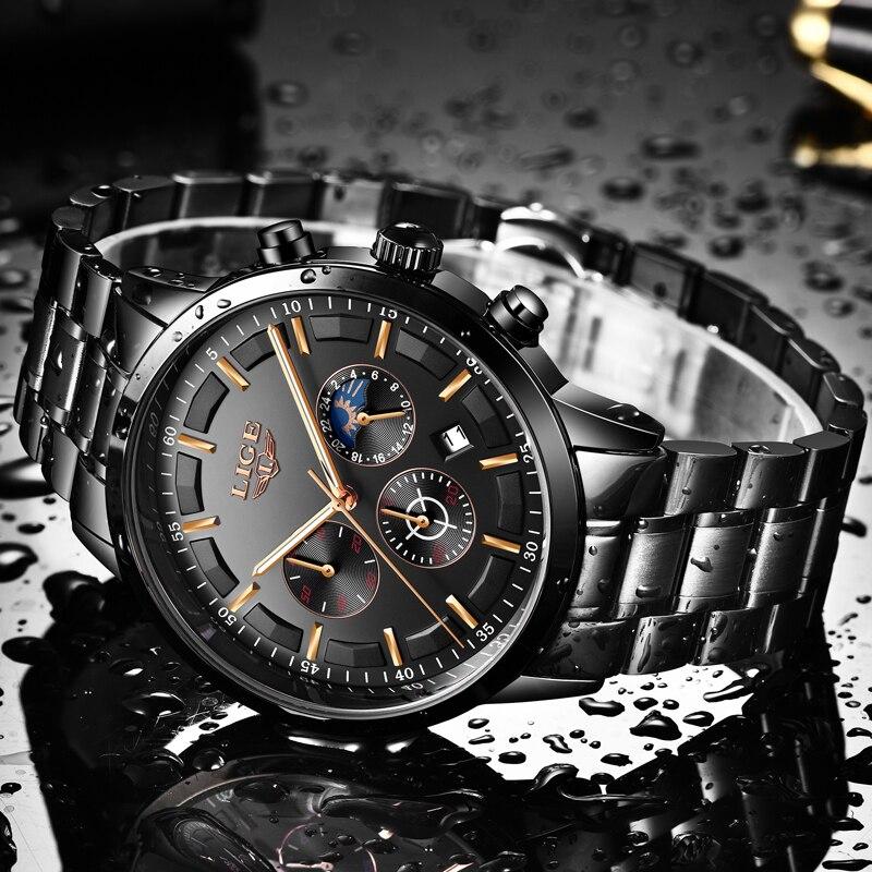 Relogio Masculino 2019 New Watch Men LIGE Fashion Sport Quartz Clock Mens Watches Top Brand Luxury Business Waterproof Watch+Box