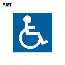 YJZT 14CM * 14CM Handicap Parking signe handicapé symbole PVC moto voiture autocollant 11-00089