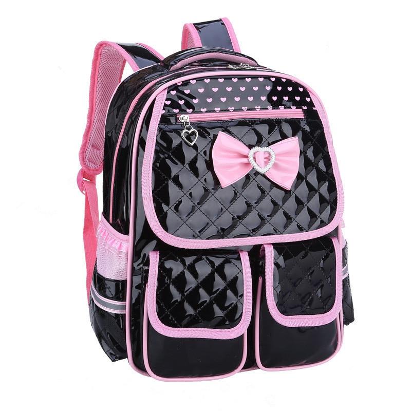 Nuevas mochilas de escuela para niñas a la moda, mochila para niñas, bolso para niñas, mochilas de PU para niños, mochilas para niñas adolescentes, traje con lazo