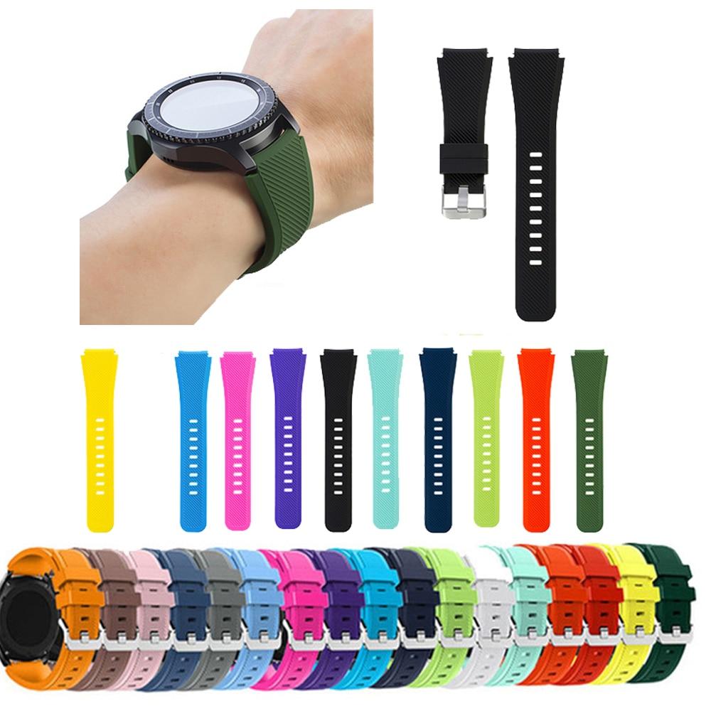 Engrenagem s3 fronteira pulseira de pulso para samsung galaxy assista 46mm huawei relógio gt cinta 22mm pulseira de relógio correa amazfit xiaomi