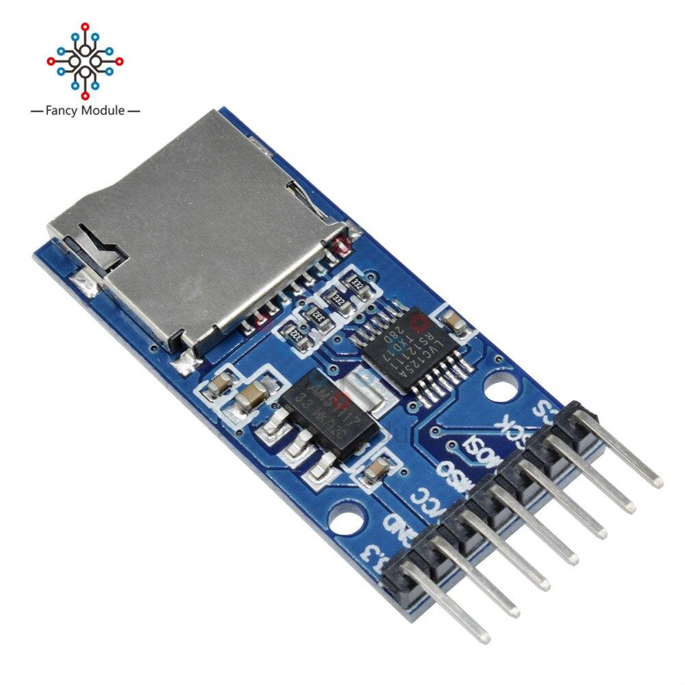 2 uds Micro SD de almacenamiento para Arduino TF tarjeta módulo de protección de memoria interfaz SPI Convertidor de nivel 3,3 V 5V regulador de circuito