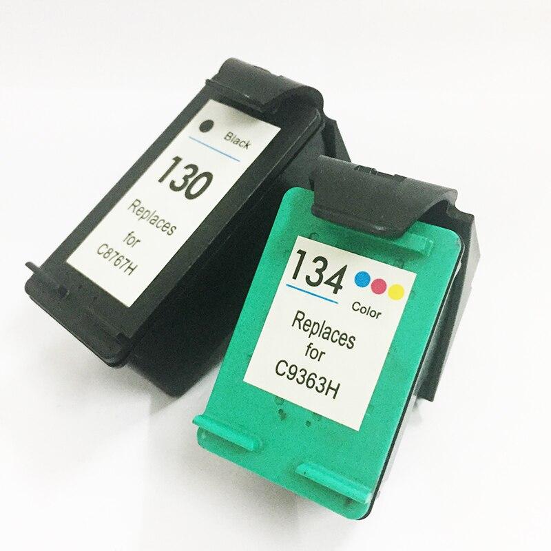 Einkshop 130 134 rellenar reemplazo de cartucho de tinta para hp 130 134 Deskjet serie 6543, 5743, 6623, 5743, 6843, 6523, 5943, 6943, 6983 impresora
