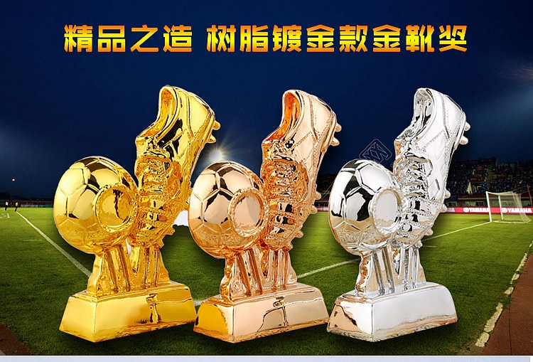 Copa del Mundo de fútbol Golden Boot Souvenir Shooter Premio trofeo modelo futbolista trofeo Punto de altura
