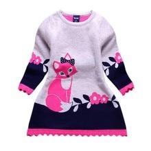 Vêtements à manches longues pour bébés   Pull-over, robe de soirée, vêtements chauds dhiver, pour enfants de 2-7 ans