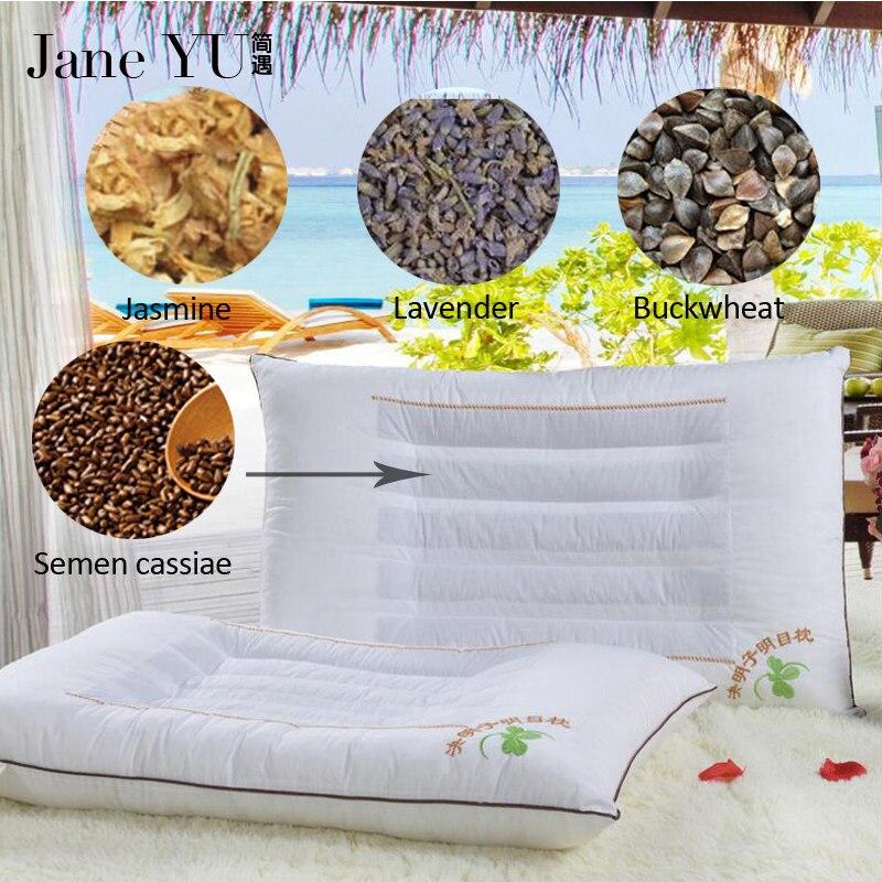 Janeyu cassia semente/lavanda/jasmim/casca de trigo mourisco enchimento travesseiro genuíno superior magnético terapia presentes cássia cuidados de saúde travesseiro