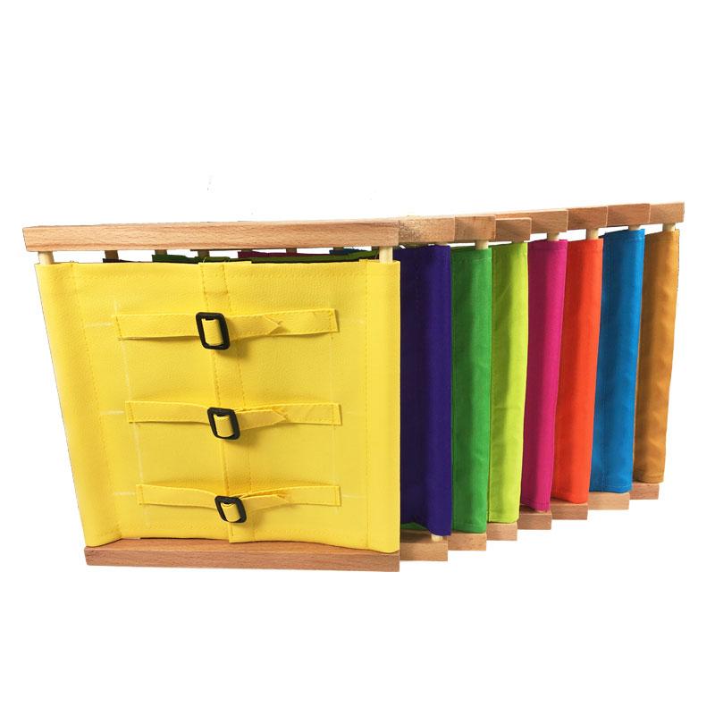 יוניסקס פעוט מונטסורי חומרים צעצוע עץ כפתורי הלבשה מסגרת עץ מעשי חיים מיומנות חינוך צעצועים לילדים מתנה