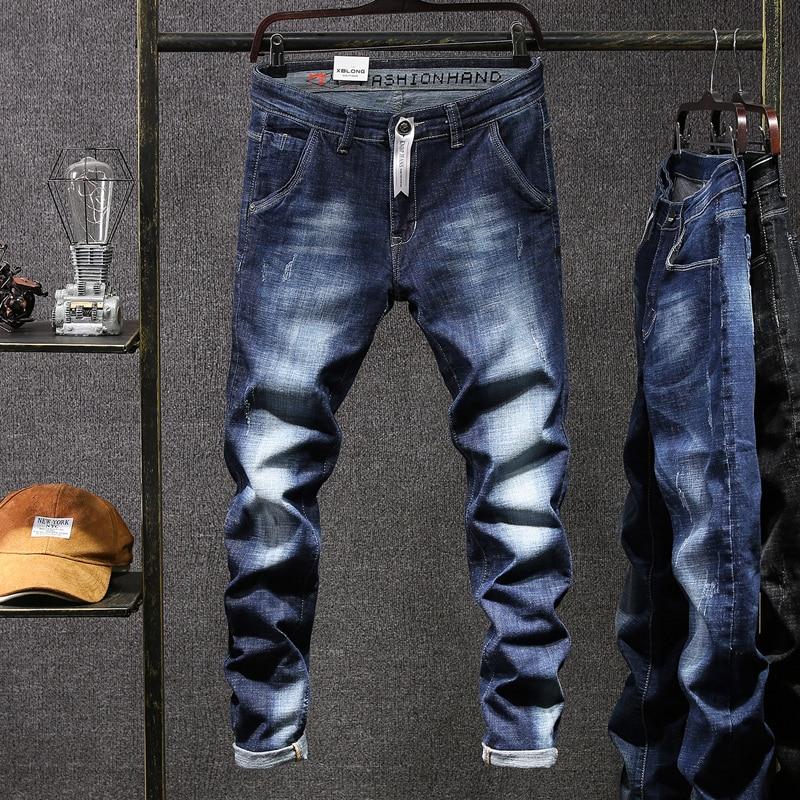 Мужские джинсы, байкерские брюки, Spijkerbroek Mannen, мужские джинсы, комбинезоны, мужские джинсы в стиле хип-хоп