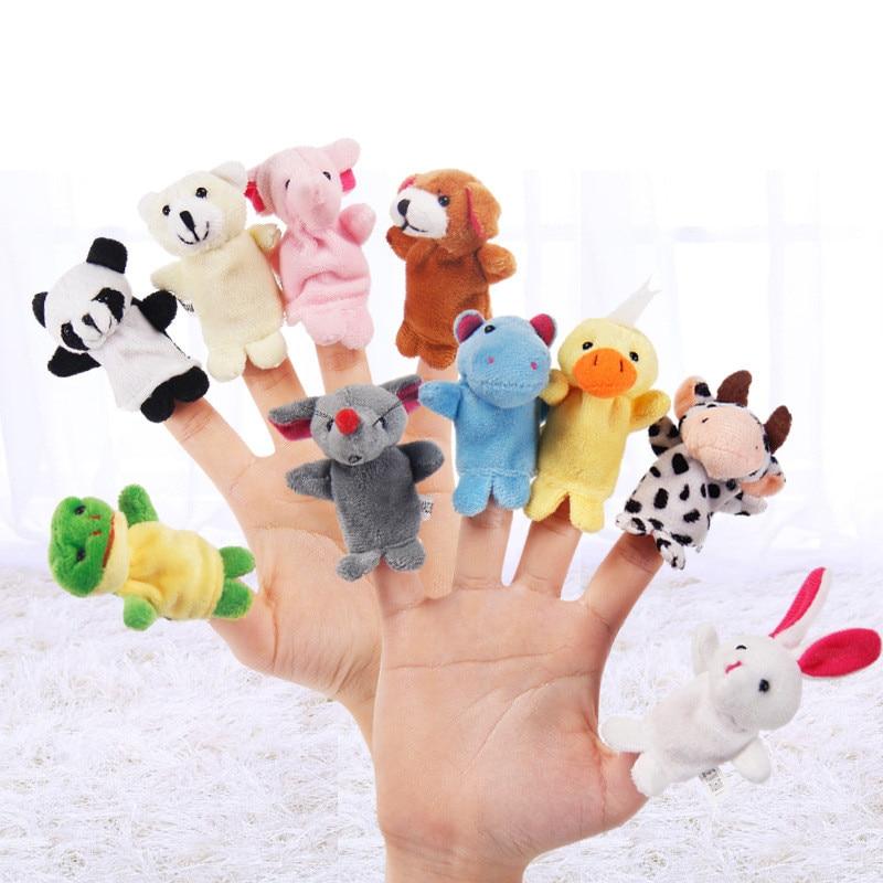 10 unids/lote de juguetes de peluche para bebés, Juguetes Divertidos para niños, juguetes educativos y de aprendizaje, juguetes para niños, figuras de regalo