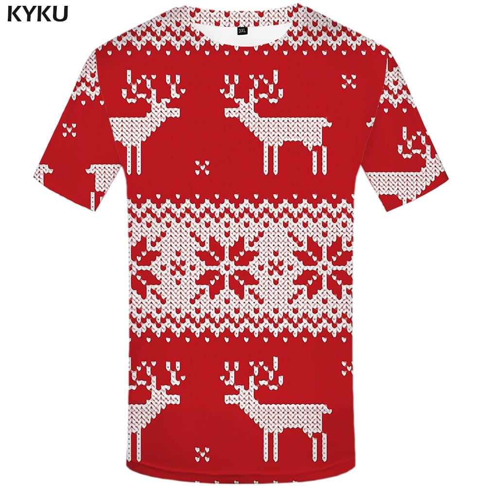 3d футболка с рождественской елкой, мужские футболки с рождественским принтом, Homme, Apple, Повседневная Красная футболка с 3d принтом