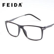 FEIDA Mens Ottico Montature Per Occhiali di Marca di Lusso Wrap Cornici Quadrato Dellannata di Modo Degli Occhiali Uomini Oculos 6016