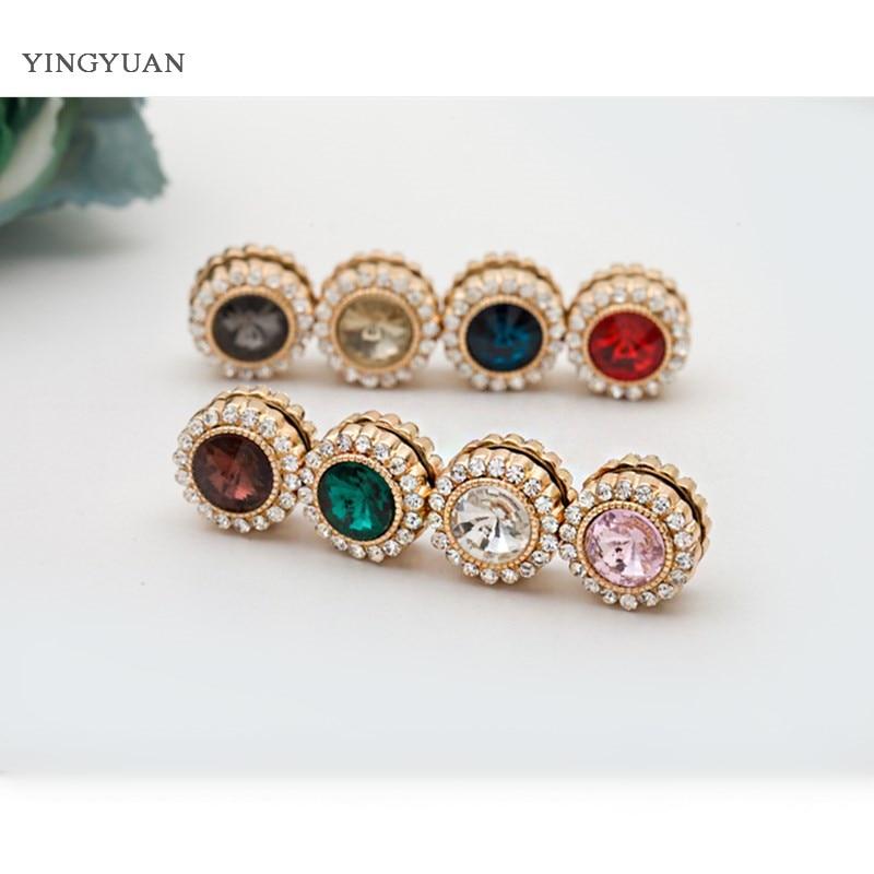 XT41 Wholesale Fashion Headwear Scarf Magnet Brooch Exquisite Rhinestone Hijab Clips 12pcs/Lot