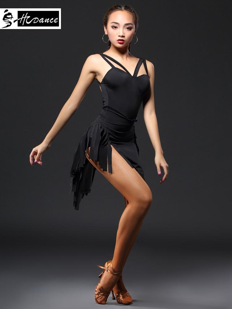 New Brand 3 Colors Latin Dance Dress Women Sleeveless Spandex Sexy Tango Dresses Salsa Latin Dress Competition Hcdance A3138 new arrival latin dance dress diamond sleeveless lotus side lotus latin skirt for vestido de festa