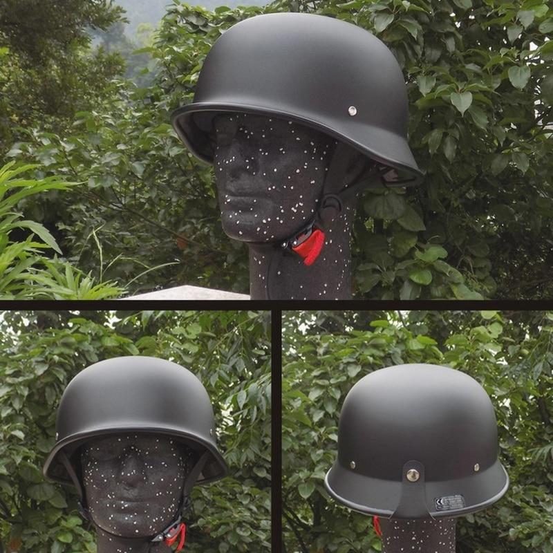 Capacete de motocicleta retro meio alemão, capacete preto fosco, meia face, chopper, cruiser, motociclista, capacetes m/l/xl