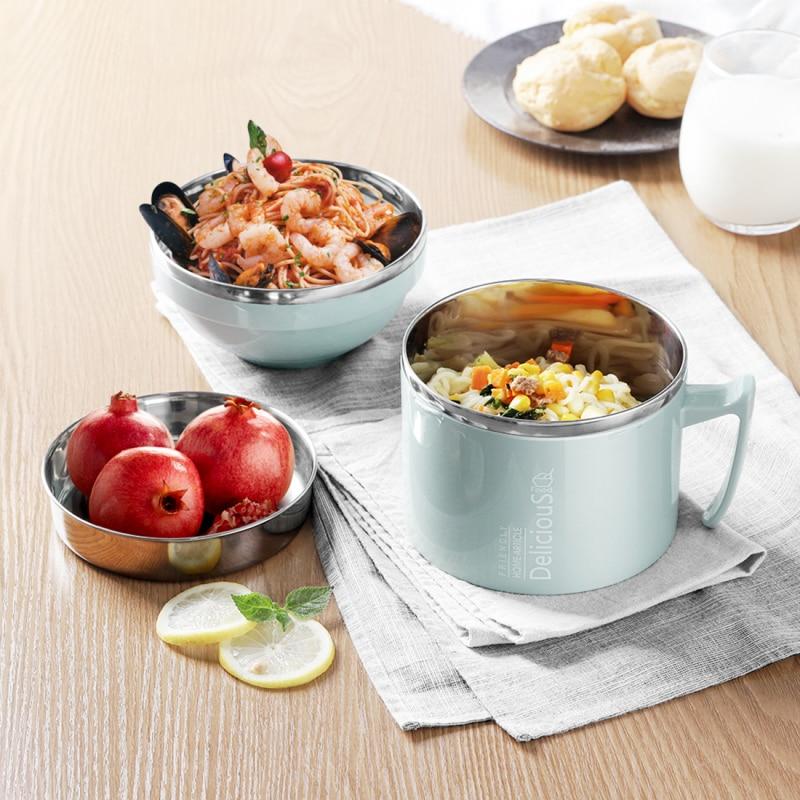 3 unids/set de contenedor de alimentos, termo aislado para frasco de sopa para alimentos, fiambrera de acero inoxidable con tapa de tazón, caja Bento, contenedor de alimentos