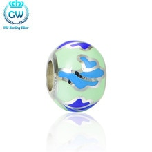 Véritable pur 925 charme en argent Sterling pour argent 925 Bracelet perles & bricolage fabrication de bijoux marque GW Amld004