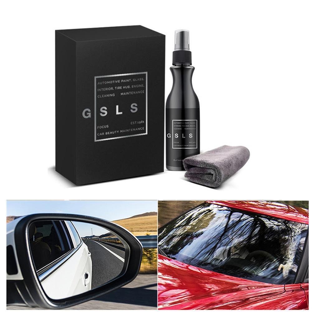 120 ML coche parabrisas delantero Anti-lluvia agente Auto coche vidrio revestimiento agente retrovisor espejo repelente con una toalla