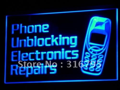 i160 Phone Unblocking Electronics Repairs Light Signs On/Off Switch 20+ Colors 5 Sizes