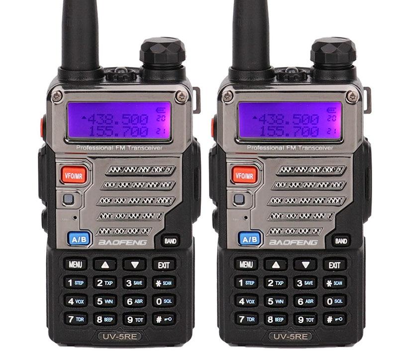 Walkie talkie walki UV5RE uv-5r plus, interfono para transceptor ssb HF, banda Dual, pantalla ppt, radio bidireccional, 2 uds