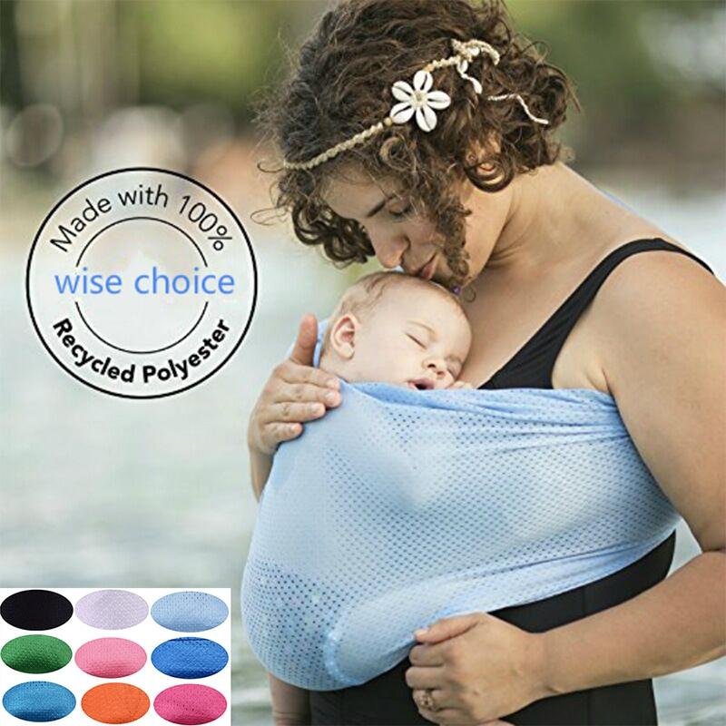 Portabebés, envoltorio suave de eslinga, funda de lactancia para mamás, anillo de Metal, eslinga frontal, envolturas para bebé de 0 a 12 meses