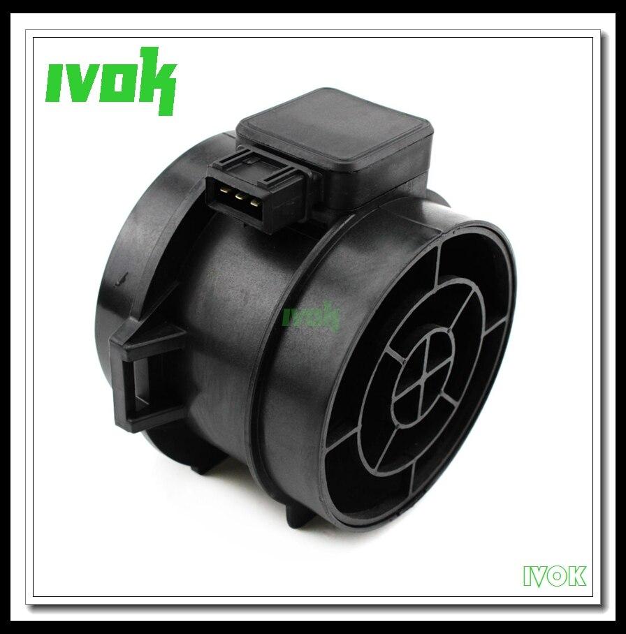 De alta calidad en masa medidor, sensor de flujo de aire para BMW E46 320i 323i 325i 328i E39 520i 523i 528i E38 728i iL Z3 5WK9605 13621432356