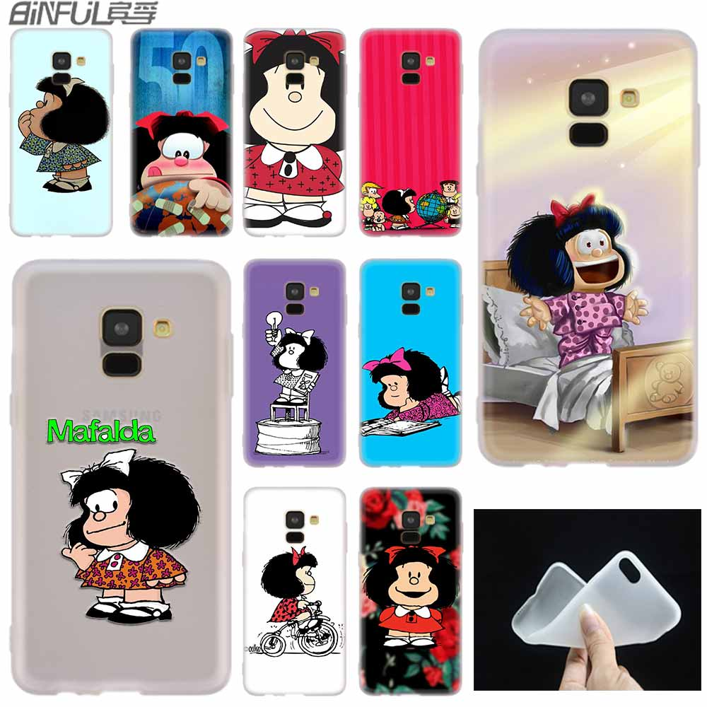 Mafalda cute case Silicone cover Phone Shell For Samsung A50 A70 A80 A30 A40 A90 A6 A8 A9 A7 A5 A3 Plus 2018 2017 2016 Star