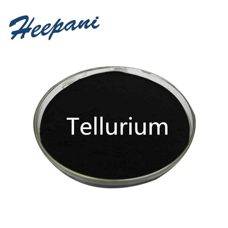 Бесплатная доставка, порошок теллурия с 99.9% чистым металлом Te для использования в полупроводниковой и электронной промышленности