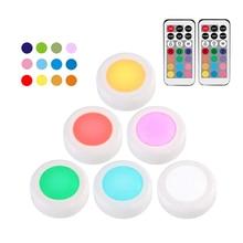 Détecteur tactile sous-placard, sous-vêtement à la lumière rvb 12 couleurs, détecteur tactile, tiroir à vitrine, garde-robe, lumière intérieure