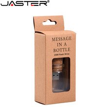 JASTER Stylish creative Drift bottle + cork USB flash drive USB2.0 4GB 8GB 16GB 32GB 64GB Photography Memory storage U disk