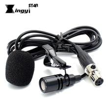 Mini XLR 4 broches TA4F condensateur Vocal filaire pince à cravate Microphone cravate micro Lavalier pour SHURE sans fil karaoké système émetteur