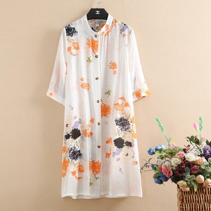 Camisa de linho feminina plus size kimono verão cardigan blusa floral vintage boho roupas coreano superior blusas mujer de moda 2019 topos
