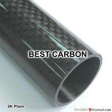 40mm x 36mm x 1300mmm High Quality 3K Carbon Fiber Fabric Wound Tube