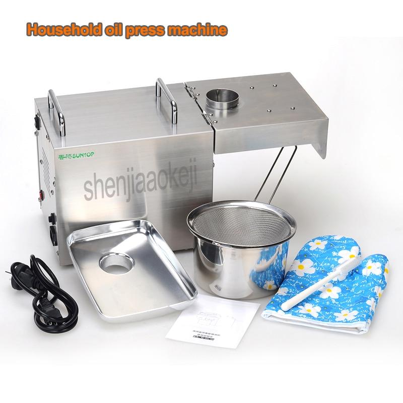 STB-505 110 V/220 V automático frio imprensa/imprensa de óleo a frio/extrator do óleo de semente de girassol/inteligente prensa hidráulica de 1500w