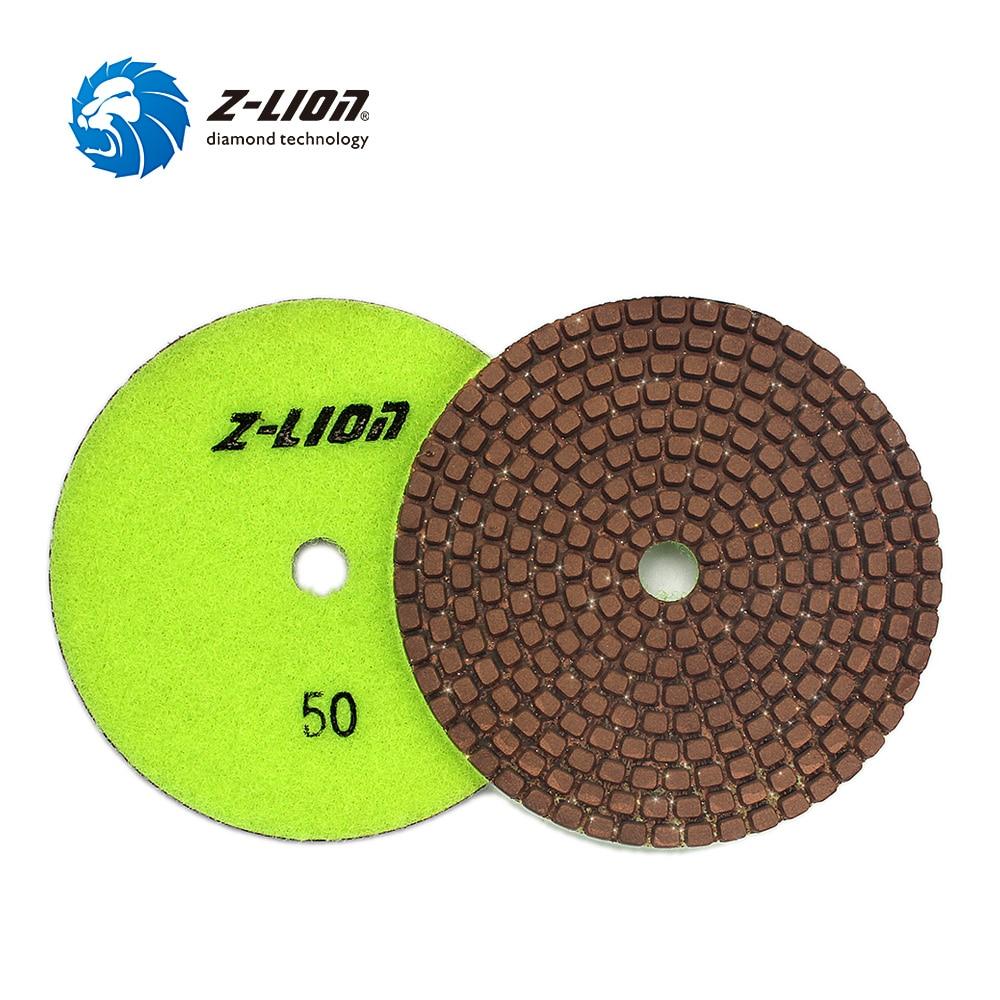 "Z-LION 4"" 1 Piece Diamond Metal Polishing Pads Copper Particles Grinding Wheel Stone Granite Marble Fast Diamond Sanding Disc"