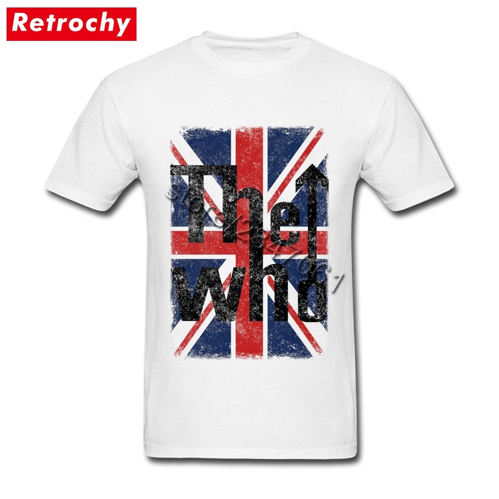 Camiseta Rock tema hombres The Who UK bandera camiseta 90s Heavy Metal algodón ecológico camiseta pareja Oversize ropa de manga corta
