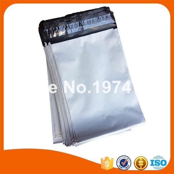 "1000pcs PE White grey mailing bags Self-seal plastic envelopes poly mailer bags 6"" x 9""+1.57"""