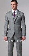 Free shipping fresh cheap wedding groom wear tuxedos Custom made Men dress Fashion man Suit light gray Suits