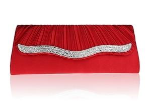 2016 Hot Sale Red Banquet Handbag Clutch Party Bridal Evening Bag Fashion Women's with Shoulder Chain Makeup Bag Bolso 12026