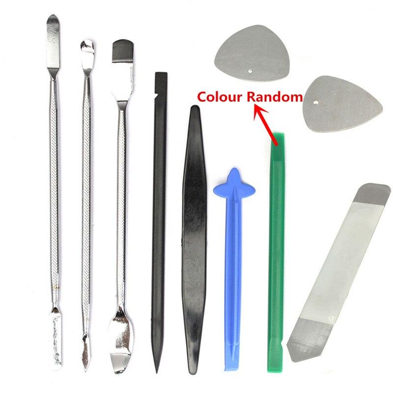 Drillpro 10 Uds en 1 Set herramienta de reparación de apertura Pry Disassemble Kit destornillador Set para teléfono móvil herramienta de mano Set