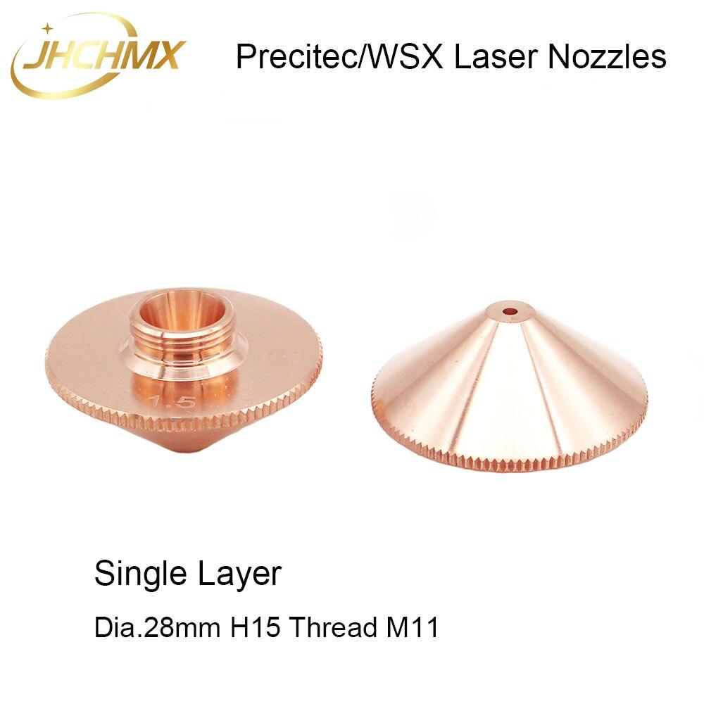 Boquillas láser JHCHMX Precitec WSX Dia.28mm H15 hilo M11 calibre de capa única 0,8-4,0mm P0591-571-00001 venta al por mayor de fábrica