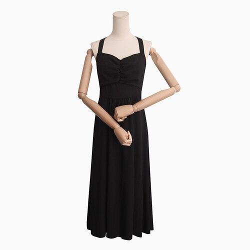 PYH41544 супер качество корейский стиль открытая спина ремень платье