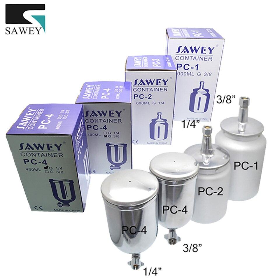 SAWEY HVLP PISTOLA de Pintura Pulverizador Recipiente Copo de Tinta 400/600/1000 ml Frete Grátis