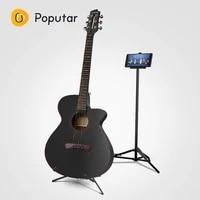 poputar p1 40 inch smart app controlled wood folk guitar with bagcapopicksstringsholder
