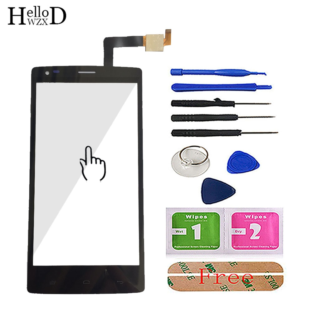 Сенсорная Передняя стеклянная панель для смартфона Fly IQ4505 IQ 4505 Quad Era Life 7, запасной дигитайзер, сенсорный экран, клей