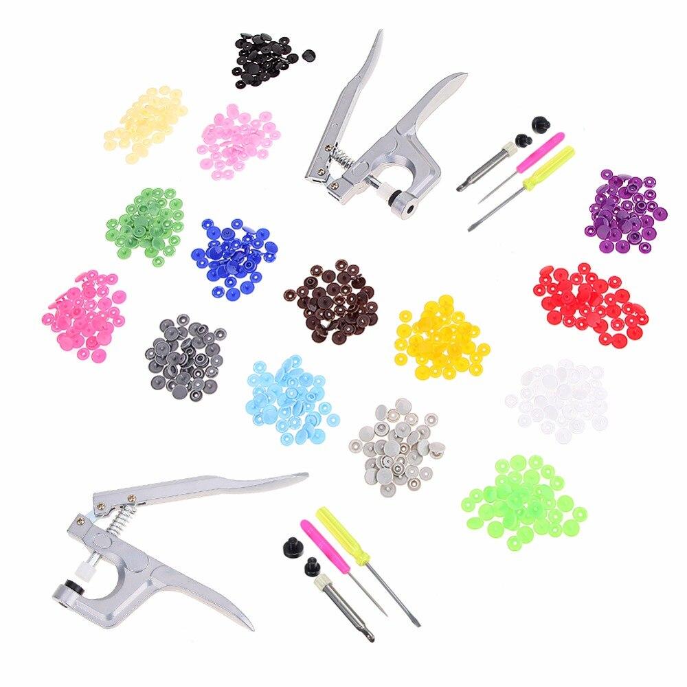 2018 nuevo cierre broche pinzas KAM botón + 150 Uds T5 de plástico de resina de perno de prensa de alicates de prensa de Metal herramientas para T3 / T5 / T8 Snap
