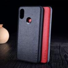 Case for Xiaomi Mi 8 Mi8 Lite SE coque Luxury Vintage Leather with silicone cover for xiaomi mi 8 mi