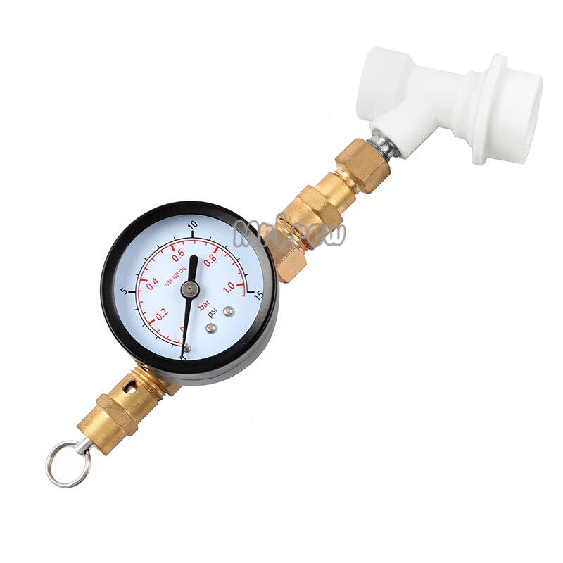 قفل كروي 0-15 رطل لكل بوصة مربعة ، صمام تخفيف الضغط مع مقياس قابل للتعديل ، معدات تخمير البيرة