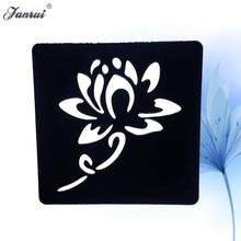 Lotus Flower Henna Tattoo Stencil Women Girl Mehndi Tattoo Template Makeup Tips For Body Art Painting Cream Cones AG02