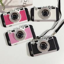 Mode Camera 3D Tumblr Case met Riem Voor iPhone 7 7 Plus 6 6 s 6 Plus 6 s Plus Achterkant Mobiele 3d Telefoon Case Voor iPhone8 8 Plus