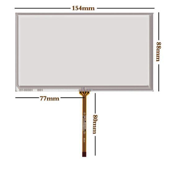 La nueva pantalla táctil de 6,5 pulgadas coche DVD AT065TN14 PW065XS1 pantalla táctil 154*88