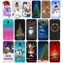 253A New Year Snowman Merry Christmas Santa Soft Silicone Tpu Cover phone Case for Samsung galaxy j3 j5 j7 2016 2017